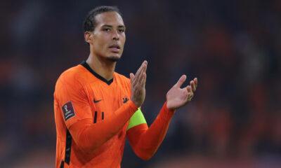Virgil Van Dijk provides update after injury scare on national duty